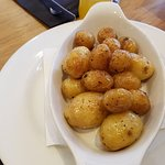 Whole roast baby potatoes.