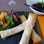 Camembert Croustade with extra side dish (Venere rice)