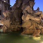 Bernini's fountain - Fontana dei Quattro Fiumi in Piazza Navona