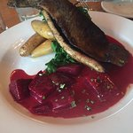 trout with beets
