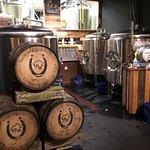 Beer aging in Bourbon Barrels