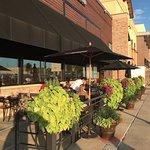 Sidewalk patio