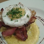 Bubble and squeak with duck egg,  yummy