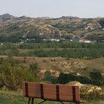 Medora view from plateau at buffet area