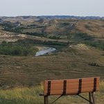 Little Missouri River view from plateau at buffet area
