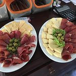 Proscuitto, Cheeses, Olives and Home made Bread