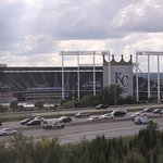 View of Kaufman Stadium from my room on the 5th floor