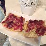 flat bread with Iberian ham