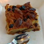 """Naked"" Rum Raisin Bread Pudding, with no Whipped Cream nor Maple Caramel Sauce."