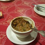 This was my spinach lentil soup. It wasn't watery or fluid (In case, that's what you like in sou
