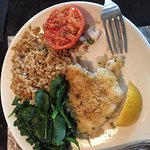 Scrod and rice pilaf entree