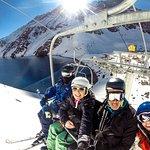 Um dos ski lifts com vista pra Lagoa