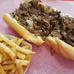 Pat's & Gino's have nothing on Larry's!!!!!  The best cheesesteaks in Philly!!!!