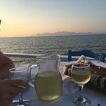 Dinner at Blue Ocean restaurant, Psalidi