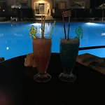 Cocktails at the pool bar