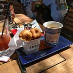 Bloody mary, New Jersey coffee and cider donuts!