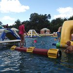 Lake inflatables and log (left side)