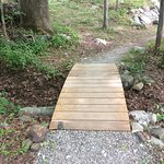 Back on the Lake Trail. It is wider and the small bridgeseemed troll-free.