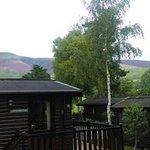 View from patio doors in the lodge.