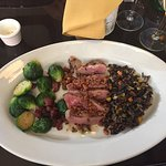 Perfect Duck with Brussel Sprouts and Wild Rice