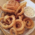 Fish and Chips dinner ... Just look at those onion rings!