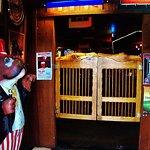 The saloon doors as you enter