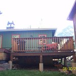 Nice deck with comfortable seating., barbeque grill & hot tub.