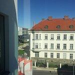 Blick zur Donauuniversität (ehemalige Austria Tabakwerke)