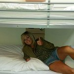 The comfy beds, which all had phone charging facilities and lamps