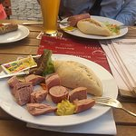 Sausage and Reitinger weissbier