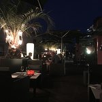 The terrace of Hotel Villa Emilia's Zinc Bar.