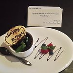 Surprised birthday cake in our suite