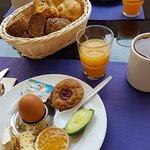 Frühstück auf der Terasse
