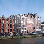 Prinsengracht view old warehouses