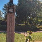 Only place where a sunflower plant can compete with Big Ben - The Miniature World, Ostrava