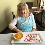 A special complimentary treat prepared for my mother's 91st birthday!