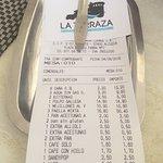 Cuenta. Agua del grifo 3.20€