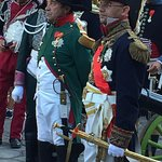 Re-enacters were everywhere for Napoleon's birthday celebrations