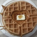 At complimentary breakfast, BW (Best Western) waffle is a must!