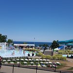 A view of Lake Ontario from near the Wave Pool