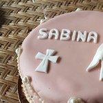 Custom Marzipan Baptism Cake