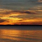 Sunset from deck near cabin