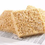 crispy square candy making with corn and flavors.