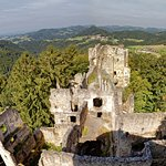 Blick vom Turm über den ältesten Burgteil