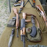 Assortment of guns from Vietnam and WW2