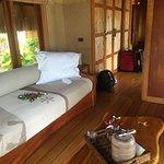 Lovely interior of the beach villa