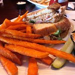 Delicious sandwiches and crispy sweet potato fries