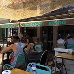 hot sunny day lunch outside bar barbulla san pedro costa del sol