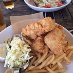 Cod fish and chips - light batter, good portions and quality food