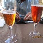 kir breton au cidre, avec kassis et framboise